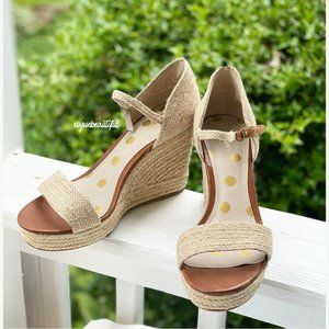 Boden Lily Espadrille Wedges Natural 9.5